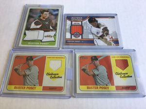 Buster Posey Jersey Cards! Lot of 4! for Sale in Visalia, CA