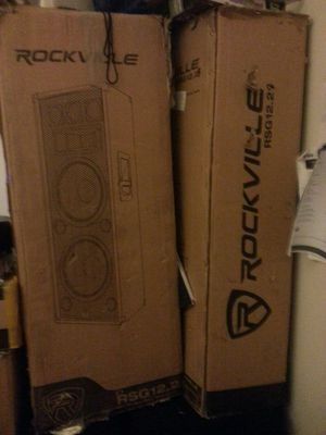 "(2)Dj speakers, Rockville 12"" for Sale in Gaithersburg, MD"