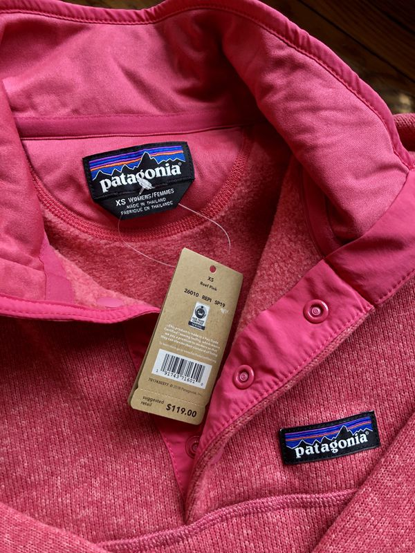 NWT Better sweater Patagonia with zippered pockets XS