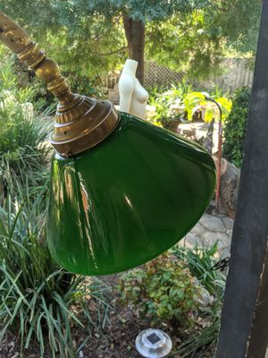 Vintage Cased Green Glass Lamp Shade for Sale in Carmichael, CA