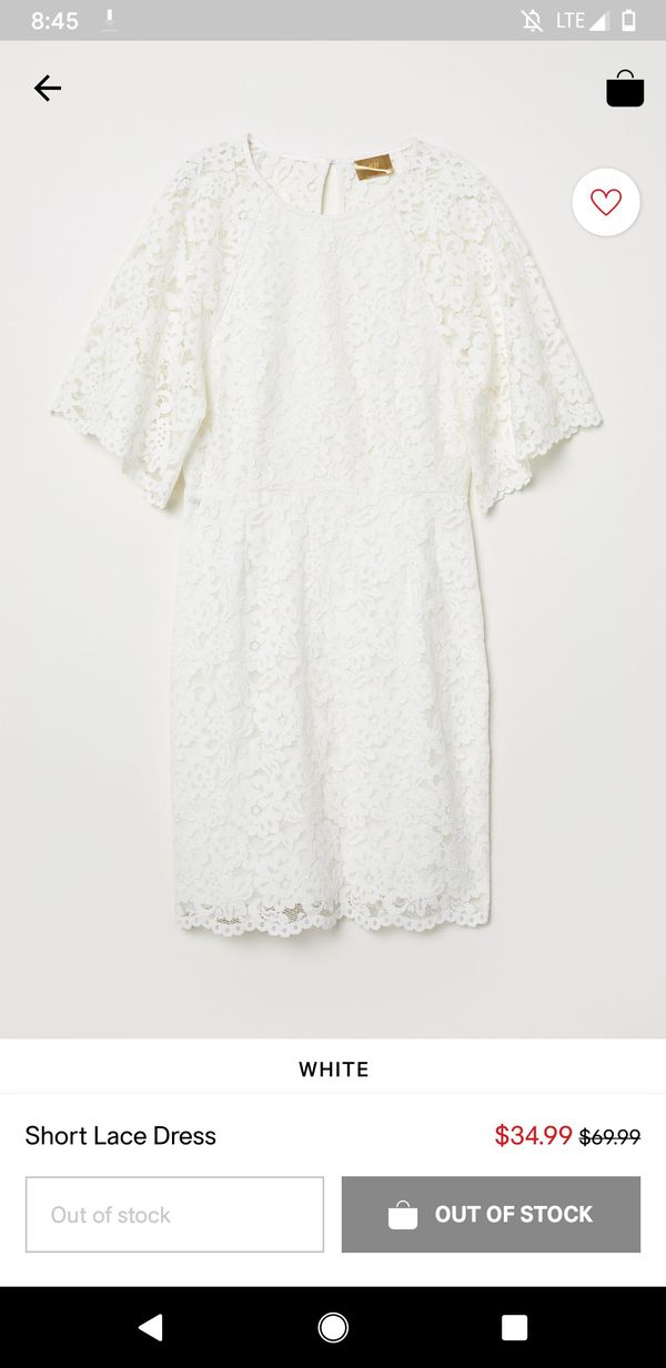 H&M little white dress, size 4 (perfect for bachelorette, wedding shower)