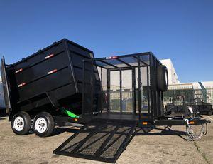 Combo trailer Dump trailer / Landscape landscaping utility trailer for Sale in Calexico, CA