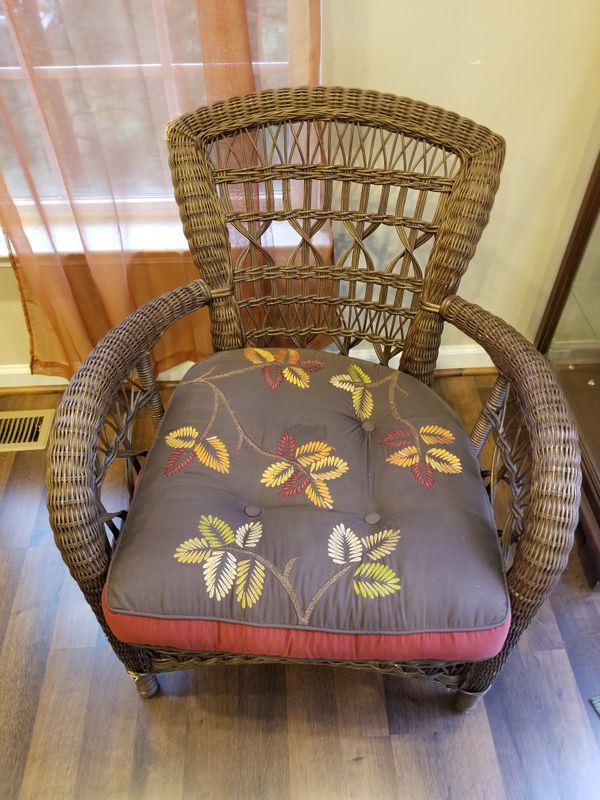 Pier One Wicker Chairs with cushions