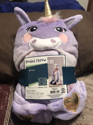 Unicorn Hooded Throw with Hand Pockets for Sale in Sioux Falls, SD