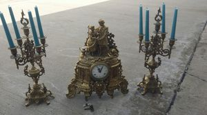 Imperial mantle clock with set of candelabras for Sale in Plano, TX