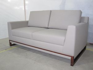 BRAND NEW // Aquila Taupe Leather Loveseat for Sale in Tamarac, FL