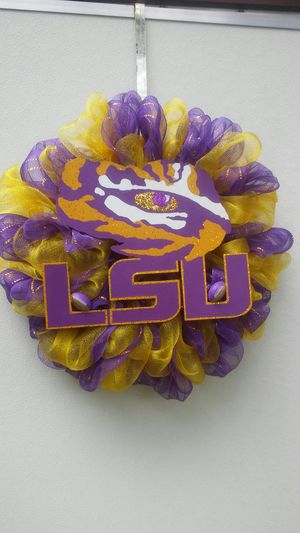 LSU TIGER EYE WREATH for Sale in Homer, LA