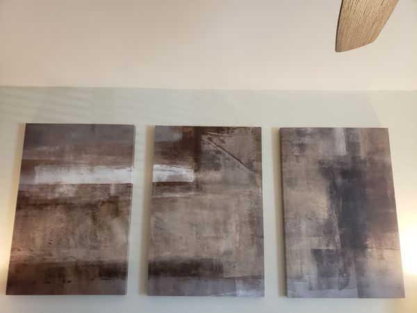 Gray and brown wall canvas