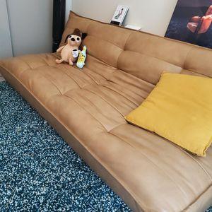Brown Leather Sleeper Sofa for Sale in Seattle, WA