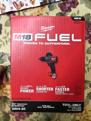 Milwaukee 1/2 Drill Fuel ⛽️.! Never open .! Sealed in📦 box asking $80 only.! 🔥 for Sale in San Jacinto, CA