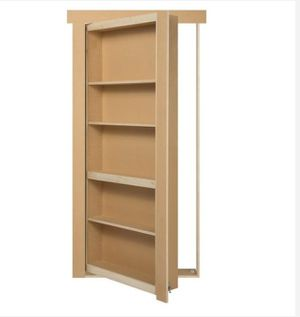 The Murphy Door Discontinued 36 in. x 80 in. Flush Mount Unassembled Paint Grade MDF Unfinished Universal Solid Core Interior Bookcase Door(U) for Sale in Houston, TX