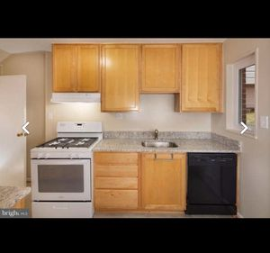 Kitchen cabinets, granite, sink, microwave and stove for Sale in Alexandria, VA