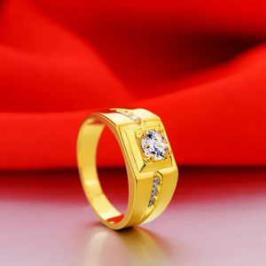 Unisex 18K Gold plated Engagement/Wedding Ring- Code 561 for Sale in Brooklyn, NY