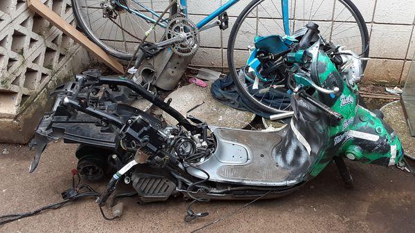 2016 Honda 50cc engine frame transmission