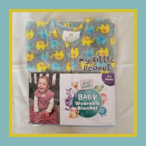 Little Journey Baby Wearable Blanket 100% polyester micro-fleece 0-6 months for Sale in Hammond, IN