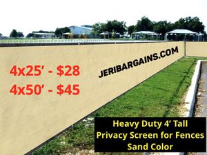 Heavy duty privacy mesh for fence- SEE SIZE AND PRICE for Sale in Norco, CA