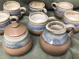 Saie Antique / Vintage Handmade Stoneware Pottery Tea/coffee Set Signed Was $100 Now 1st $50 Takes All for Sale in Las Vegas,  NV