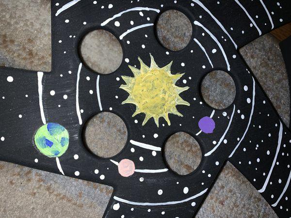 Hubcap Space Art