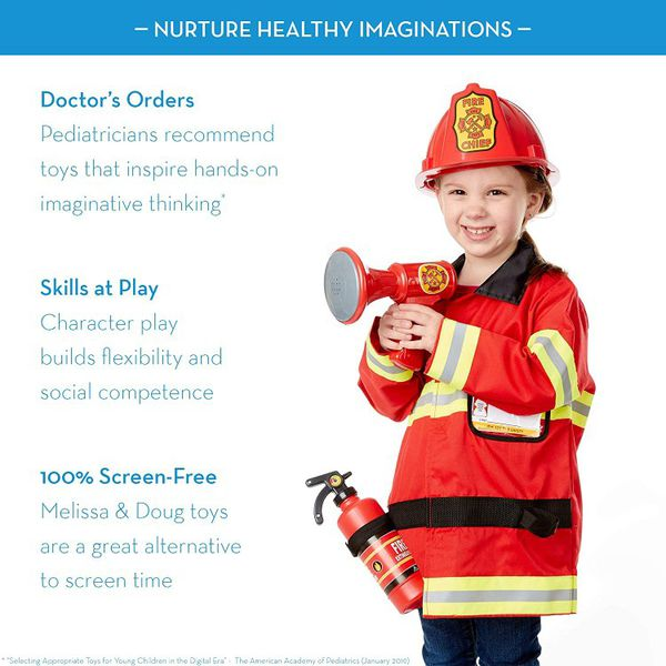 Fire Chief Role Play Costume Set By Melissa & Doug For Ages 4-6 Yrs