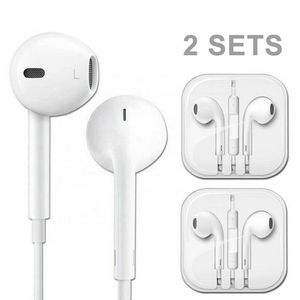 2 Sets X-Bass Earbuds With Mic For iPhone iPad iPod Android 3.5mm Jack for Sale in Glendale, CA