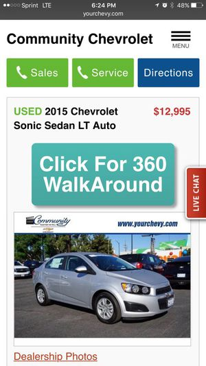 2015 CHEVY SONIC LT for Sale in Burbank, CA