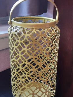 Yellow Candle Holder for Sale in Arlington,  TX