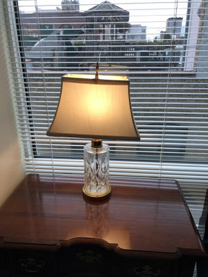 Glass lamp with shade for Sale in Chicago, IL