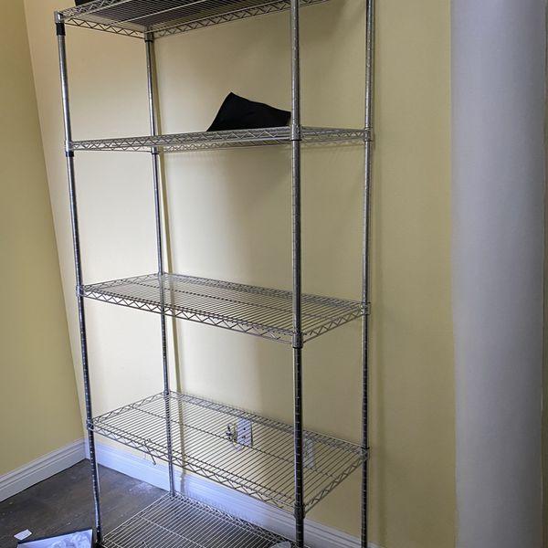 5 Shelf Metal Bakers Rack