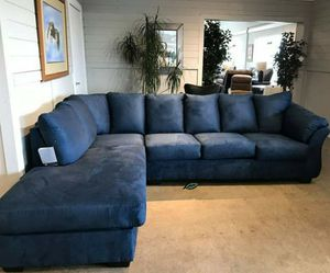 💲39 Down Payment 🍃Best Deal SPECIAL] Darcy Blue LAF Sectional for Sale in Laurel, MD