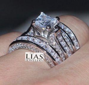 New 14 k white gold wedding ring set for Sale in Orlando, FL