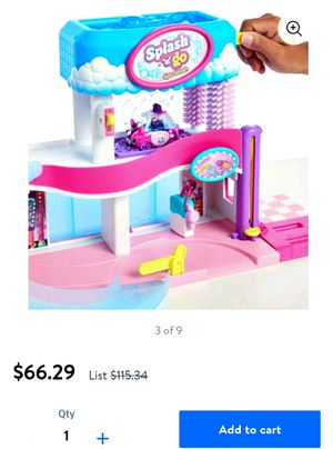 Shopkins car spa wash playset and change color shopkins cars for Sale in Everett, WA