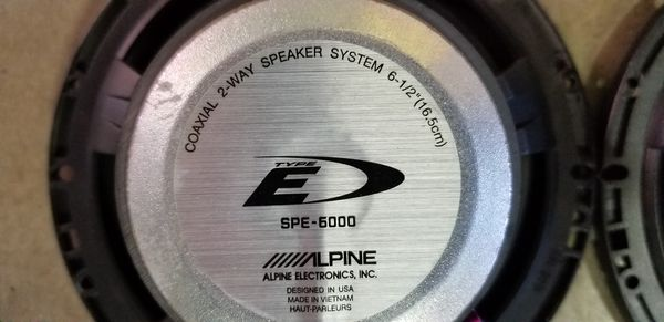 6.5 Alpine speakers
