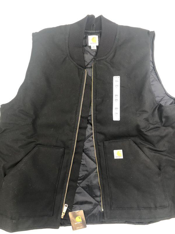 New Mens Carhartt Arctic Quilt Lined Duck Vest V01 2XL