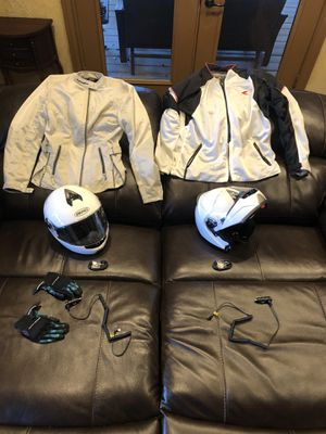 Riding gear & dual motorcycle/ bicycle rack for Sale in Carrollton, TX