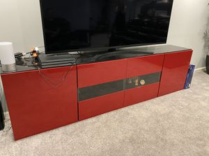 Red TV Stand With Cabinets 2 Pcs for Sale in Macomb, MI
