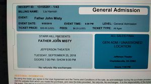 Father John Misty tickets for Sale in Charlottesville, VA