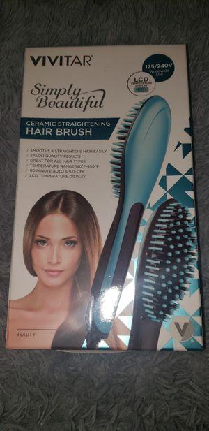 New ceramic straightening hair brush for Sale in Stockton, CA