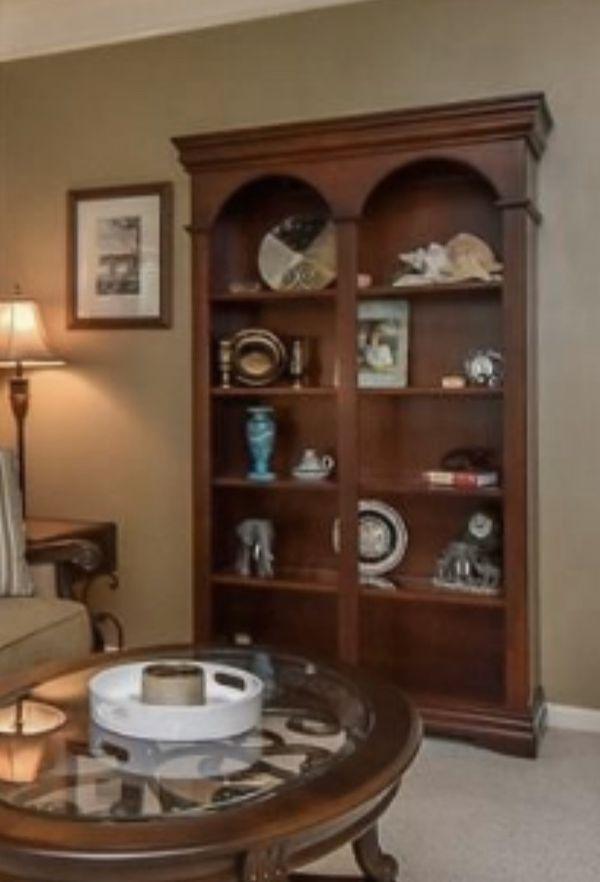 Beautiful Bookshelf - Lighted with glass shelving
