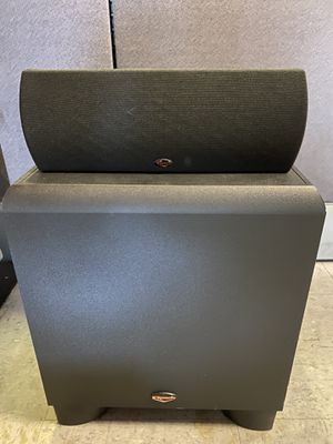 Klipsch Synergy 10 Subwoofer and Klipsch Quintet center channel for Sale in Newport Beach, CA