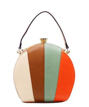 Fashion Faux Leather Color Block Handbag for Sale in Jacksonville, FL