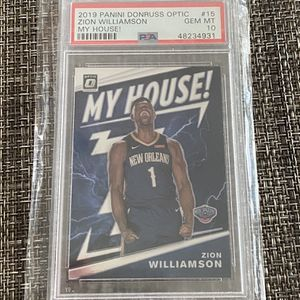 Zion Williamson Optic My House! #15 PSA 10 for Sale in Hacienda Heights, CA