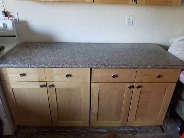Kitchen cabinets with granite countertops