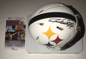 ROD WOODSON PITTSBURGH STEELERS LEGEND SIGNED AMP MINI HELMET WITH JSA COA RARE for Sale in Carnegie, PA