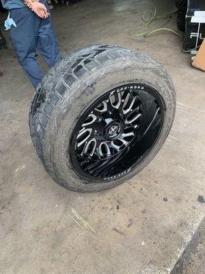 Jeep Wrangler wheels 22x12 for Sale in Hialeah, FL