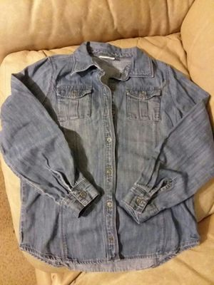 Crazy 8 size Large girl long sleeve jean shirt for Sale in Boca Raton, FL