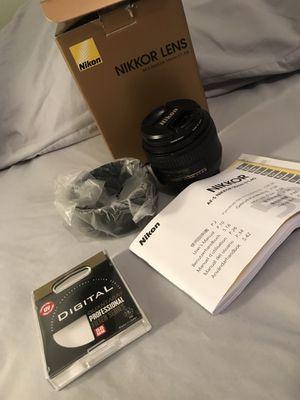 NIKON NIKKOR AF-S 50mm f/1.4g lens for Sale in Pembroke Pines, FL