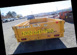 2013 Hydraulic Dump 10ft Utility Trailer 9,900 GVWR Barn Doors for Sale in San Francisco, CA