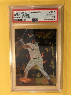 "DEREK JETER - 1995 SELECT CERTIFIED - ""MIRROR GOLD"" #122 - PSA 10 -GEM MINT - ""Hall of Fame 2020"" coming up soon induction !!!! for Sale in Elgin, IL"