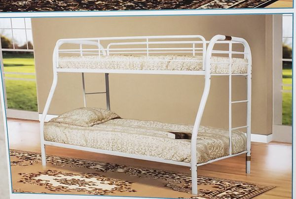 Bunk bed color white Full--twin