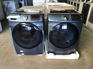 Brand new Samsung steam washer and dryer set with add was washer (gas dryer only) take home for $50 initial payment! for Sale in Houston, TX